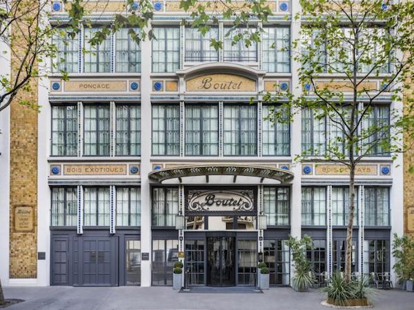 alternative film du dimanche staycation dans une ancienne chocolaterie devanture hôtel Boutet Bastille