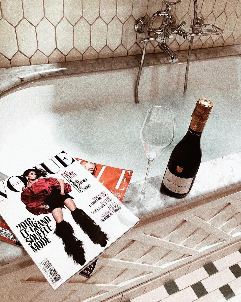 bain moussant champagne