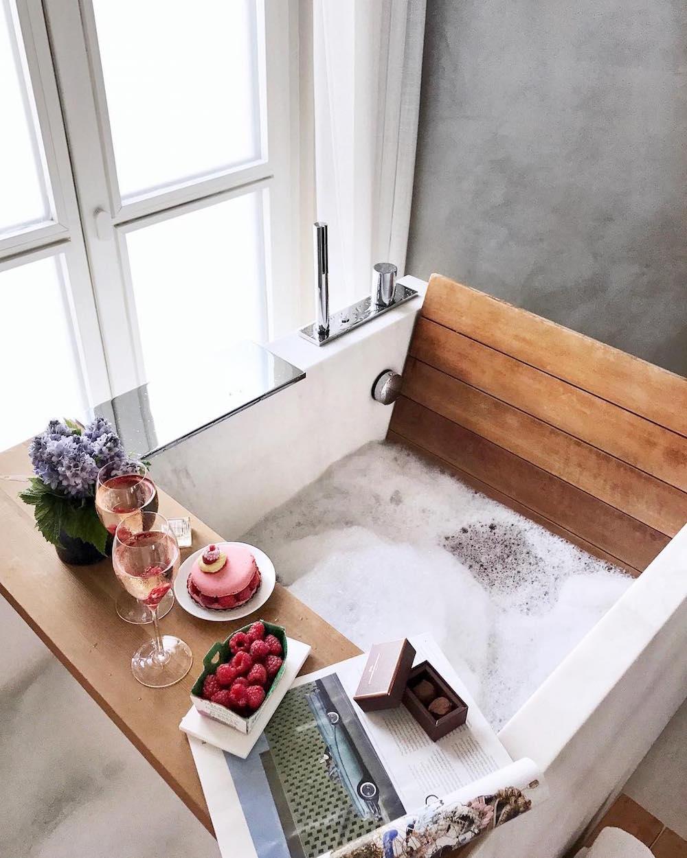 saint valentin 2018 idée romantique bain macarons