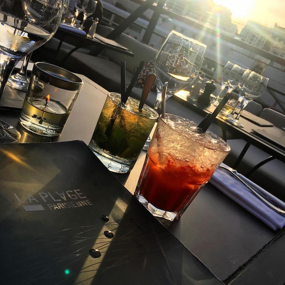 hotel paris 15 eiffel blomet la plage parisienne terrasse vue tour eiffel