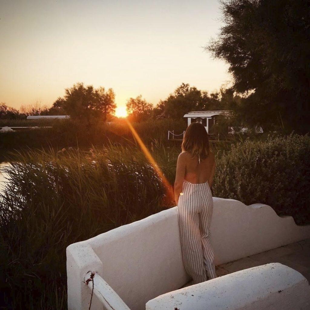 hôtel en camargue coucher de soleil