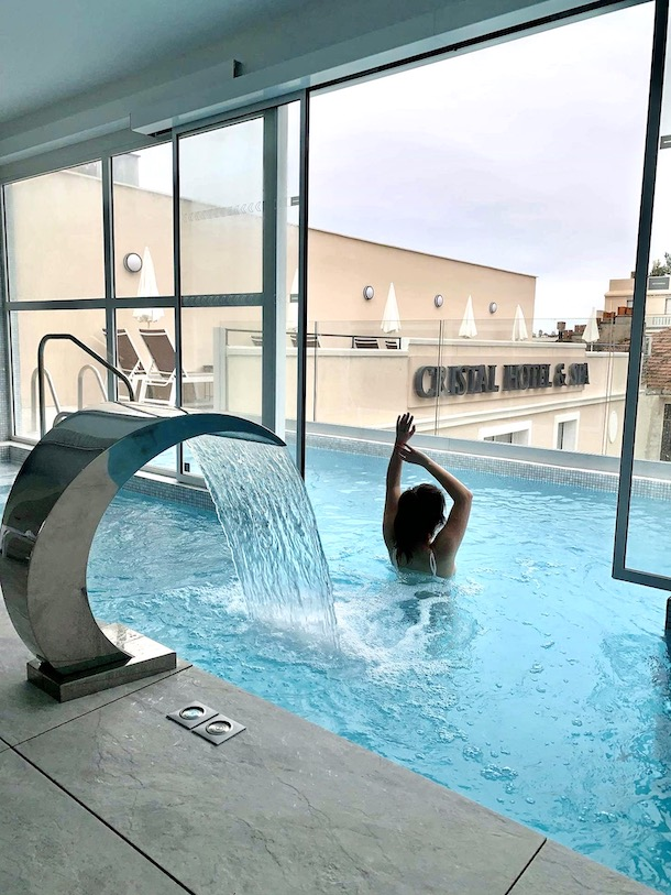 piscine le cristal hotel spa